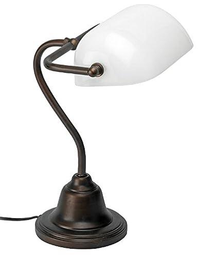 Mathias 3450895 Banquero lámpara de 52W E27 230V Multi Hierro/Opaline Altura 36 cm Longitud 30 cm