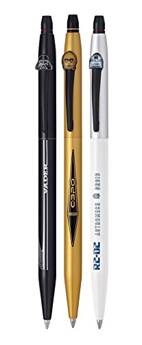 Cross Click Star Wars 3-Pack Gel Ink Pens - Darth Vader, C-3PO, R2-D2 (9857M3) by Cross (Image #1)