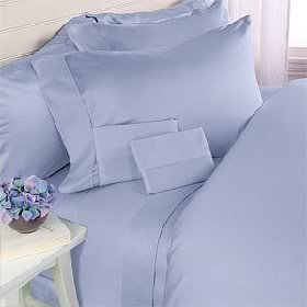 Luxurious BLUE Solid Solid / Plain, QUEEN Size, 1500 Thread