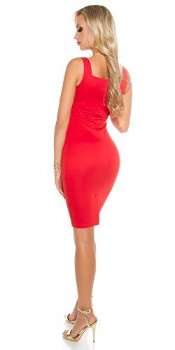 In-Stylefashion - Vestido - Estuche - para mujer Rojo