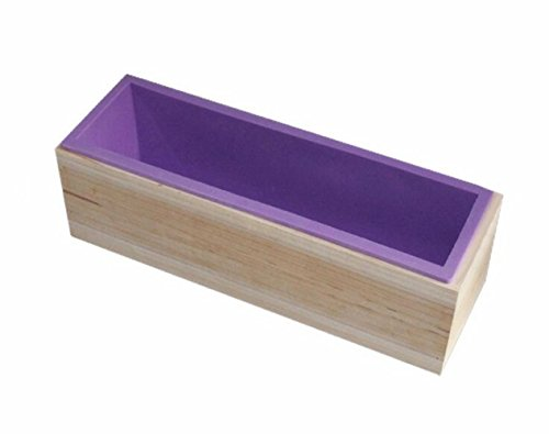 D-Foxes Rectangle Soap Silicone Mold With Wooden Box DIY Tools Toast Loaf Baking Cake Molds (Large)