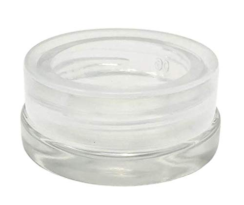 [450pcs] 7ml Low Profile Thick Glass Containers w/Clear Lids - Concentrate Jars for Oil, Lip Balm, Wax, Cosmetics