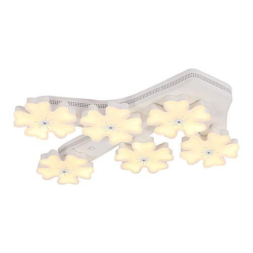 - Starry Lighting SL-62919-6,Modern 6-Light Flower LED Ceiling Light,Aluminium LED Ceiling Lamp with Flower Acrylic Shade,Art Deco Flush Mount Ceiling Pendant Lighting Fixture