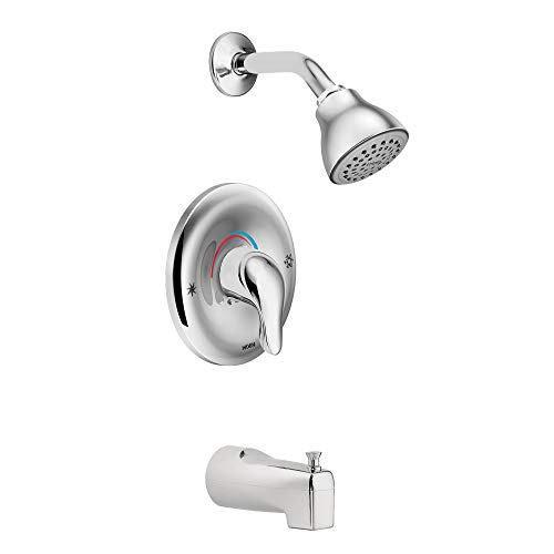 Moen L2353 Chateau Tub and Shower Faucet Set with Moen's PosiTemp Shower Valve, Chrome