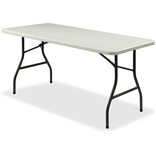 (Lorell 12347 Ultra-Lite Folding Table, Platinum,Gray,Powder Coated)