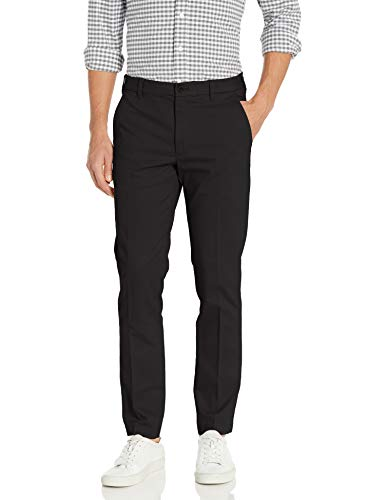 Izod Mens Advantage Performance Flat Front Slim Fit Pant
