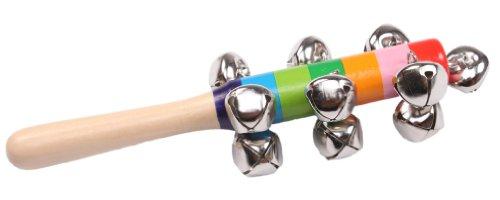 Hengsong Baby Holz Stick Shaker 10-Glocke Klingel Musikinstrument Spielzeug