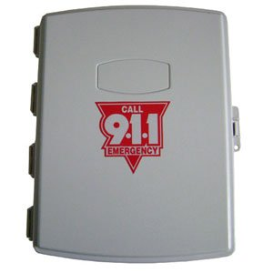 Emergency Pool Phone - 911 Only Cellular Phone inside AC Powered Weatherproof Enclosure Cabinet Box Waterproof by AA Communications Pool Phone