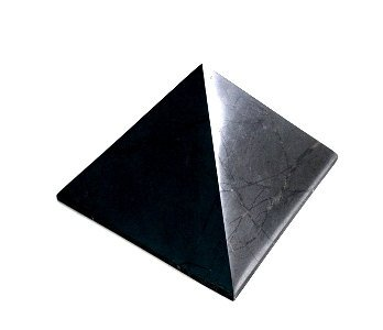 Polished Shungite Power Pyramid from Russia 4 cm by Shungite world