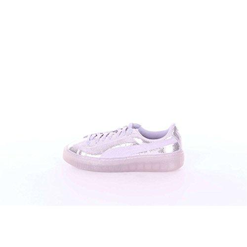 Puma Damen Basket Platform Core Sneaker Silber