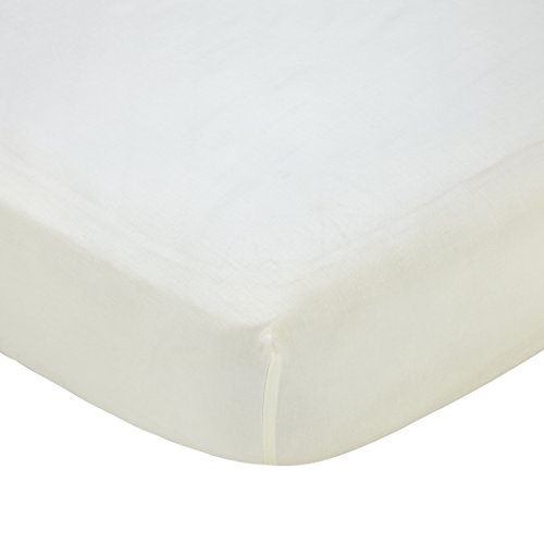 (Carter's Solid Fitted Sheet, Solid Ivory, One Size)