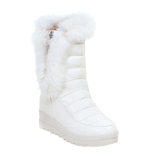 Damen Shoes Schneestiefel Wade Warmer der Kunstpelz Weiß Mee Mitte 5HqcA5v
