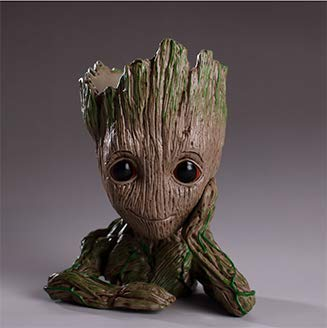 Best Quality - Action & Toy Figures - Original Model Plant Flower Pot Drop Shipping Penholder Tree Men Hero Creative Guardians of The Galaxy Crafts Figurine - by ORSTAR - 1 PCs