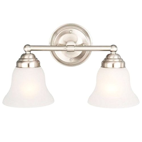 Hampton Bay 612 708 2-Light Vanity-2-Light Brushed Nickel Vanity