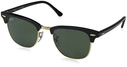 Price comparison product image Ray-Ban CLUBMASTER - EBONY / ARISTA Frame CRYSTAL GREEN Lenses 49mm Non-Polarized