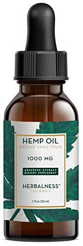 Herbalness - Hemp Oil 1000 mg for Pain, Stress & Anxiety ...