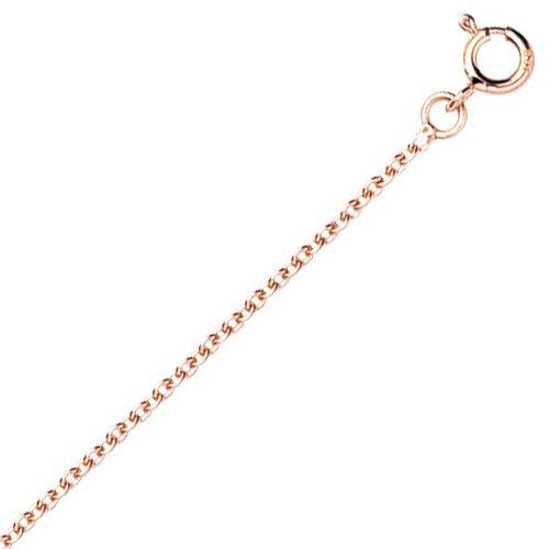 So Chic Bijoux © Chaîne Collier Longueur 50 cm Maille Forçat Rond 1,5 mm Or Rose 750/000 (18 carats)