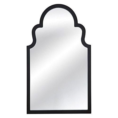 Bassett Mirror M3665EC Elberta Wall Mirror, Black Lacquer - Rubbed Black Lacquer