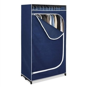 Portable Clothes Closet Wardrobe in Blue Breathable Fabric by FreeLander
