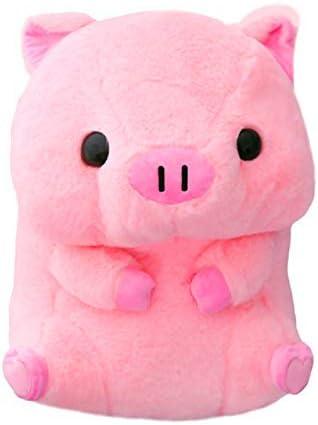Juguete de Peluche 40 cm Rosa Sentado Cerdo Cabeza Grande Cerdito Muñeca de Peluche Niños Huggable Animal Juguete de Felpa Niños Dormir Compañero Apacible Peluche