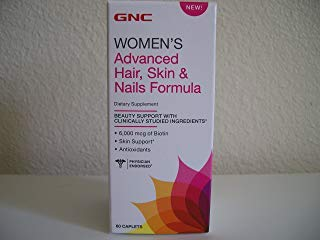 GNC Womens Advanced Hair, Skin Nails Formula 60 Caplets Day Womens Advanced Formula