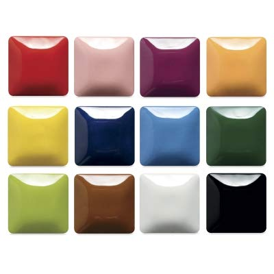 Mayco Stroke and Coat Wonderglaze for Bisque Set #3 - Set of 12 Assorted Colors in 2 Oz Bottles (Pottery N)