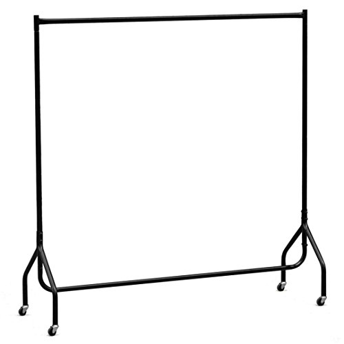 New Heavy Duty Portable Hanging Rail Rack for Garment Clothes Dress Display Market/ Black#299 (Space Coast Craigslist Garage Sales)