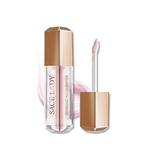 Face Highlighter Makeup Cream, Liquid Natural Glow Illuminator Make Up for Eye Face Body Brightener Bronzer Highlighting…