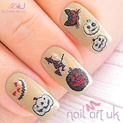 Glitter Halloween Pumpkin Adhesive Art Nail Stickers ()