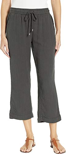 Dylan Crop - Dylan by True Grit Women's Soft and Light Double Gauze Crop Pants with Pockets Carbon Small 24