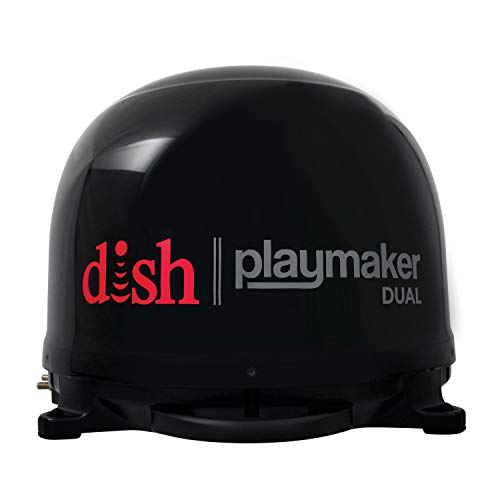 Winegard PL-8035 Black Dish Playmaker (Dual HD RV Satellite Antenna Dual Receiver Capability, Optional RV Roof Mount Sold Separately),1 ()