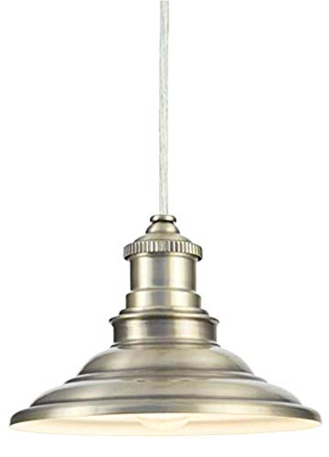 """- Allen Roth Antique Pewter Large 16"""" Hainsbrook Pendant"""