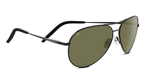 (Serengeti Carrara Polarized Sunglasses, Shiny Gunmetal)