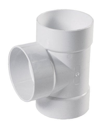 NDS 4P01 Tee Hub by Hub by Hub Solvent Weld Fitting, 4-Inch, White