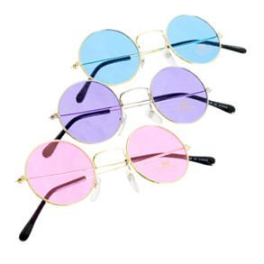 Ruby Colored Glass - Rubie's Costume Co John Lennon Colored Sunglasses?colors Vary