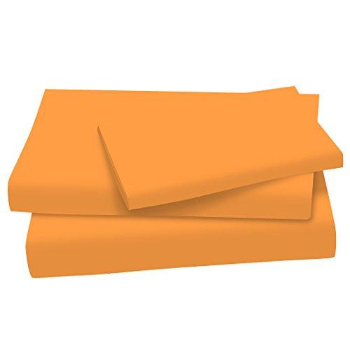 Sherbert Set (SheetWorld Twin Sheet Set - Orange Sherbert Cotton Jersey Knit - Made In USA!)