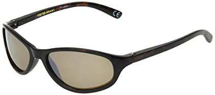 Foster Grant Women's Choice Polarized Oval Sunglasses, Tortoise/Amber, One Size