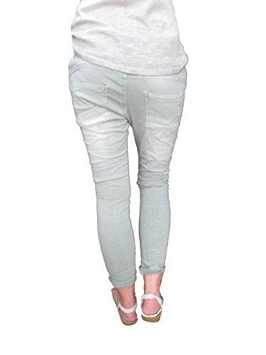 Lexxury Galonstreifen Baggy Jewelly M de Copain by Range Ouverte 38 Pierres avec Jeans Femmes Boutons Strass BqRR54wxY
