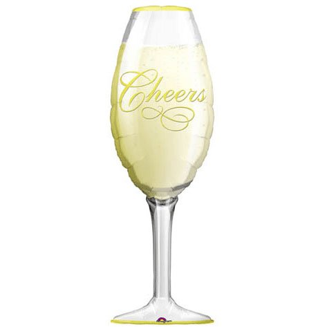 Amscan Super Shape Champagne Glass Balloon