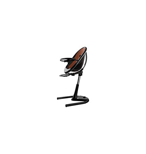 Mima Moon 2G Complete High Chair in Black with Camel Seat Pad