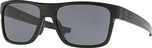 Oakley Men's Crossrange Square Sunglasses, Polished Black w/Grey, 57 - Glasses Oakley Prescription Online