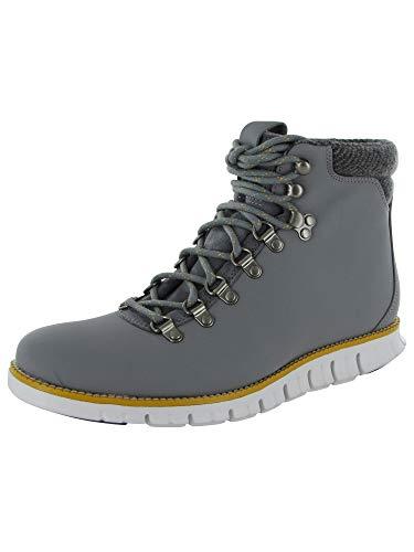 Cole Haan Men Zerogrand Hiker Water Resistant Boot Shoe, Grey/White, US 7.5