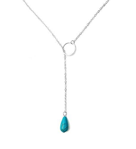 Suyi Exquisite Turquoise Pendant Necklace