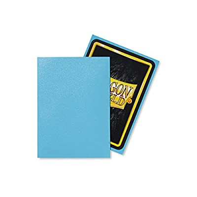Dragon Shield Bundle: Matte Baby Blue 100 Count Standard Size Deck Protector Sleeves + 100 Count Clear Inner Card Sleeves: Toys & Games