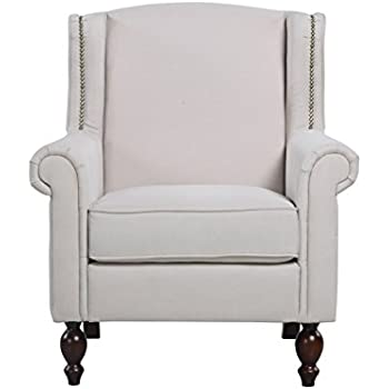 Amazon Com Medford Charcoal Grey Fabric Club Chair