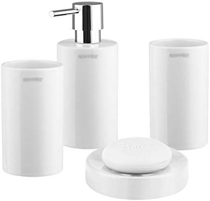 FXin バスルームアクセサリー、セラミックバスルームウォッシュセットバスルーム用品4、13色の組み合わせのバスルームセット シャワー室 (Color : B)
