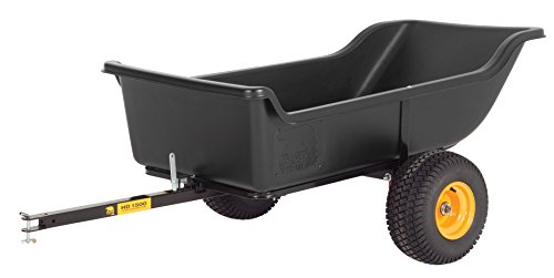 Polar Trailer 8233 HD 1500 Heavy Duty Utility and Hauling Cart, 98 x 54 x 31-Inch 1500 Lbs Load Capacity Rugged Wide-Track Tires Quick Release Tipper Latch Tilt & Pivot Frame, Black