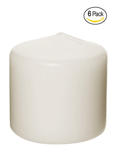 Pillar Candle for Wedding, Birthday, Holiday & Home Decoration by Royal Imports, 3x3, Ivory Wax, Set of 6