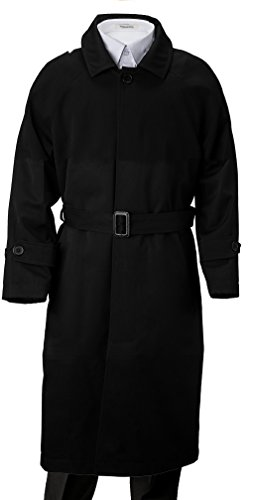 Franco Palino Big Boys' Single Breasted Trench Coat Rain Coat Water Repellent with Belt & Hood Great For Parties, Holidays, Formal events And all occasions Black 10 by Franco Palino
