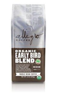 Allegro Ground Coffee 2, 12 oz Bags (Organic Early Bird Blend)